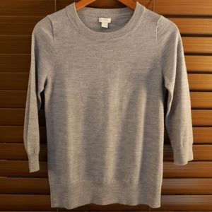 J.Crew 100% wool grey sweater size small
